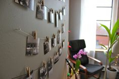 DIY Mini Clothespin Picture Display – niftythriftygoodwill