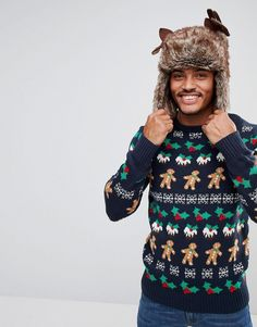 Another Influence Gingerbread Man Sweater - Multi