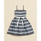 Un Deux Trois Girls' Chiffon Stripe Party Dress - Sizes 7-16 This is my graduation dress!