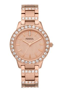 Love this Fossil watch in Rose Gold