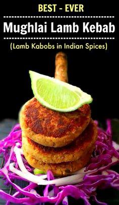 Mughlai Lamb Kebab - Minced Lamb Kabob using Indian Spices #lamb #kebab #mincedlamb #indianrecipe