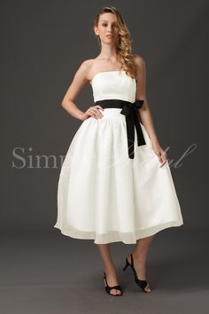 Short & simple....not white though - and different color sash