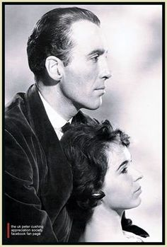 Christopher Lee and Marla Landi from Hammers  The Hound of the Baskervilles