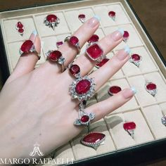 Bayco Jewelry rubies come to life on the hand of lovely MARGO RAFFAELLI http://bayco.com/