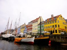 Travel Inspiration - Copenhagen, Denmark   Nyhavn harbour   Blog post with photos & information about places to see there