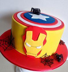 Super hero cake | Spider man , iron man and captain america | Cake Envy | Flickr