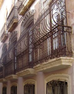 typical balconies in Almería