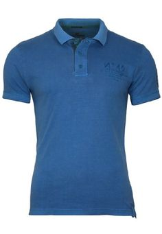 QS by s.Oliver Poloshirt, Größe:M;Farbe:Blue