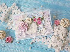Inspiruje Anastasiya: romantyczne kartki - Inspirations from Anastasiya: romantic cards Tiny Miracles, Romantic Cards, Shabby Chic Cards, Vintage Cards, Wedding Cards, Cardmaking, Coin Purse, Throw Pillows, Paper