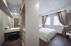 Bedroom Closet Design, Bedroom Wardrobe, Bedroom Decor, Space Saving Bedroom, Bungalow House Design, Master Room, Scandinavian Bedroom, Apartment Interior Design, House Rooms