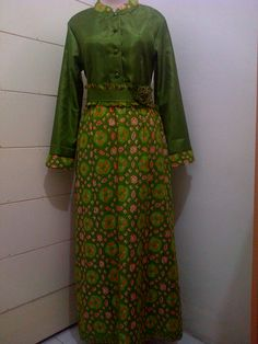 Gamis Batik kombinasi santung