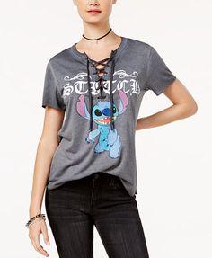 Freeze 24-7 Juniors' Stitch Lace-Up T-shirt | macys.com