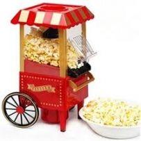 Mini carriage shape nostalgic hot air popcorn machine poper pop corn
