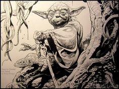 Swamp Dweller: Ink detail: photo of original art: Andy Brase: https://www.facebook.com/AndyBraseArt