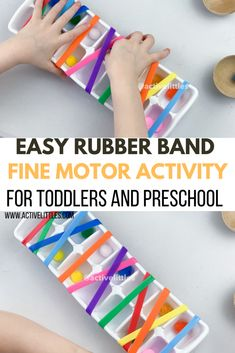 Activities To Do With Toddlers, Toddler Fine Motor Activities, Preschool Fine Motor Skills, Preschool Art Activities, Fine Motor Skills Development, Motor Skills Activities, Infant Activities, Occupational Therapy Activities, Sensory Motor