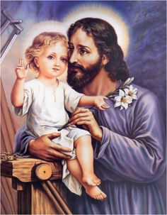 """March 19 is the feast of St. Joseph, Patron of the Universal Church. The novena is from March """"Saint Joseph gave me everything . Catholic Saints, Roman Catholic, St Joseph Novena, Saint Joseph, Prayer For Our Children, Image Jesus, Jesus E Maria, Novena Prayers, Religion Catolica"""