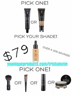 May kudos live on my site! Younique Touch Trio Bundle is to die for, you pick your items!!