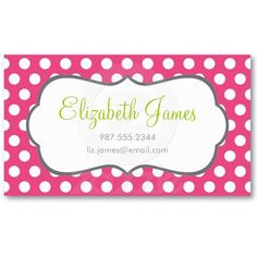 polka dots business cards