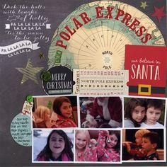 Made with Scrapbook.com's December Kit Club Kit - Joyful Christmas.