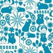 I love blue guinea pigs fabric by ebygomm for sale on Spoonflower - custom fabric, wallpaper and wall decals