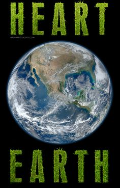 Free Science Heart Earth Poster
