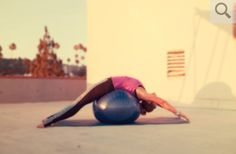 Full body extension on fitball