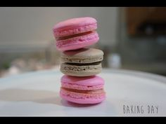 COMO HACER MACARONS (PASO A PASO) - YouTube Party Desserts, Dessert Recipes, Meringue Desserts, French Macaroons, Macaroon Recipes, Pastry Recipes, Cakes And More, Cupcake Cakes, Cupcakes