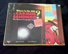 Where In The USA Is Carmen Sandiego Age 8+ Board Game Mystery Geography Game PBS