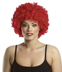 Afro Clown Red Wig - Costume Wigs