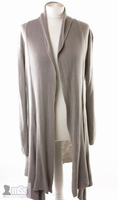FRANK WALDER Ladies Light Brown Waterfall Cardigan Mohair Mix sz ...