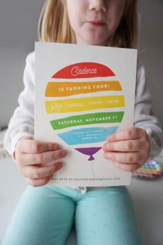 Rainbow Party Invitations! Adorable for boy or girl :D