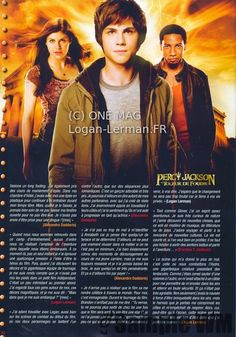 Percy Jackson magazine scan!