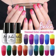 Belen Thermal UV Gel Nail Polish Temperature Colour Change Soak Off Nail Art 7ml in Health & Beauty,Nail Care, Manicure & Pedicure,Nail Polish | eBay