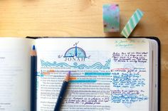 Taking notes in your Bible can be intimidating, let alone drawing and painting in it! This guide is on how to start Bible journaling for beginners. Enjoy!