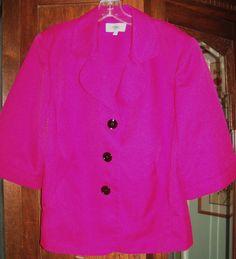 Hot pink 3/4 sleeve jacket