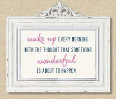 something wonderful...
