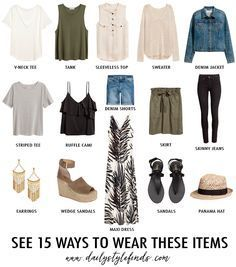Daily Style Finds: Build a Mixable Summer Wardrobe with 15 Pieces