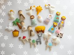 PDF pattern Nativity set ornaments Nativity by MagicPatternShop Christmas Countdown, First Christmas Ornament, Christmas Nativity, Christmas Crafts, Crochet Christmas, Christmas Printables, Christmas Stocking, Christmas Christmas, Idees Cate