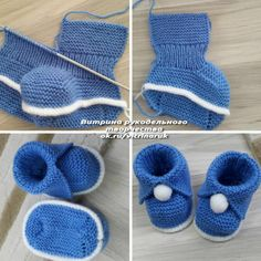 Knit Baby Booties Patterns – Knitting And We Baby Booties Knitting Pattern, Knit Baby Dress, Baby Hats Knitting, Crochet Baby Shoes, Crochet Baby Booties, Baby Knitting Patterns, Baby Patterns, Knitted Baby, Free Knitting