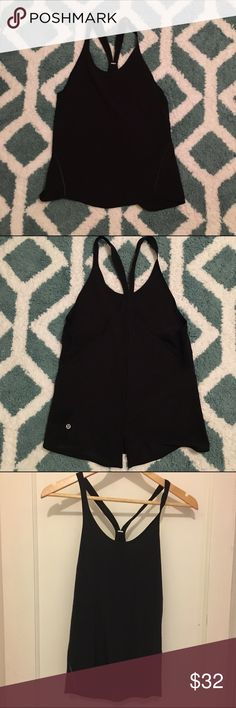 Lululemon Singlet Tank This lulu singlet is black, lightweight and multifunctional. It can be worn to workout but is extremely cute for work or the night out. The material is lightweight cotton, with a silk-like feel. I wore it only once, very much like new. lululemon athletica Tops Tank Tops