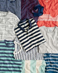 Remember your lines. J.Crew stripes are the best way to turn up the volume on a…