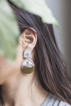 Moon Statement earring Lightweight handcrafted &