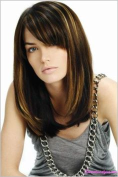 cool Haircuts for medium straight hair with bangs