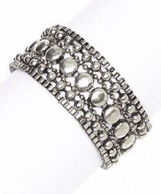 Loving this Silver Antiqued Bracelet on #zulily! #zulilyfinds