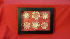 Handmade Custom 3D Flower Shadow Box 5x7 by HandmadeFamilyGifts