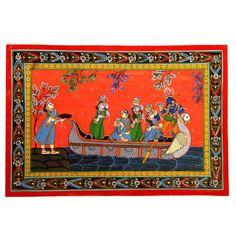 Kerala Mural Painting, Madhubani Painting, Indian Art Paintings, Radha Krishna Pictures, Krishna Radha, Indian Folk Art, Beautiful Photos Of Nature, Autumn Scenery, Hindu Art