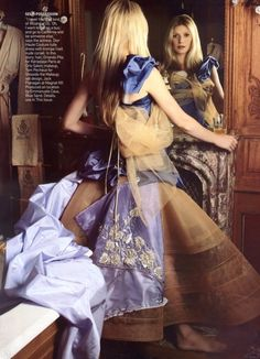 Gwyneth Paltrow by Mario Testino for Vogue US (October 2005). Dior Haute…