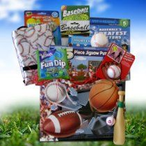 Baseball Gift Basket Ideal Get Well for Sport Lovers
