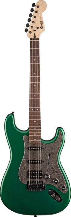 Squier Bullet Stratocaster HSS with Green Metallic finish and Black Hardware. Now that's my idea of a cool guitar.