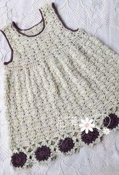 Vestido de tricô para as meninas